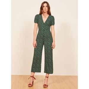 Reformation NWT France Jumpsuit Basil Green 4
